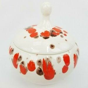 Vintage 70s Handmade Drip Glaze Decorative Bowl